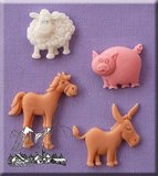 Alphabet Moulds Farm Animals_