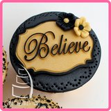Katy Sue Designs | Mini Plaque - Believe_