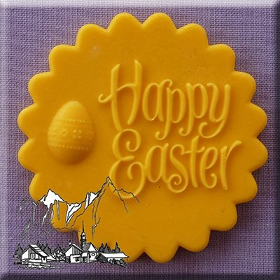 Alphabet Moulds Happy Easter Topper