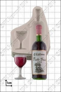 FPC  Wine Bottle And Glass