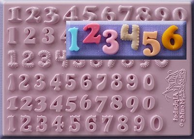 Alphabet Moulds | Set of 6 Numbers 12mm