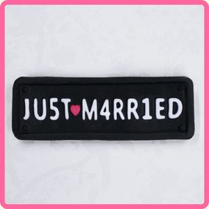 Katy Sue Designs | Just Married Car Plate